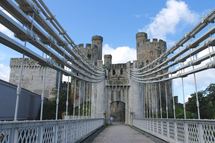 Bridge outside Conwy Castle, Wales