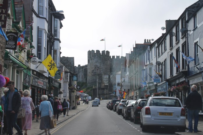 Town of Conwy with view of Conwy Castle, Wales