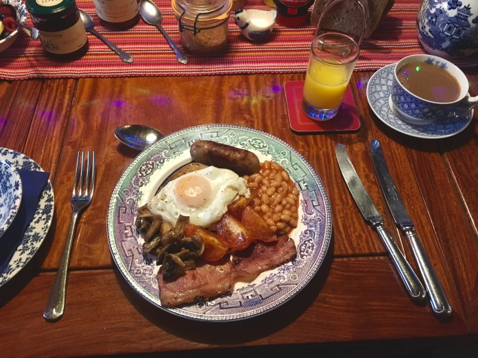 Full English Breakfast at the Post Office Cottage, Worth Matravers