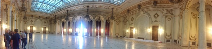 Ballroom at Palace of Parliament, Bucharest, Romania