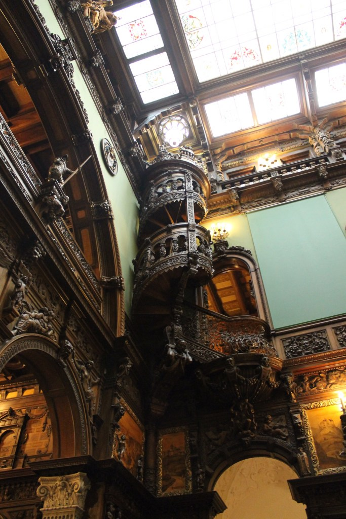 Beautiful woodwork in Peles Castle