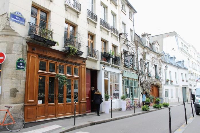 Cute street in Paris