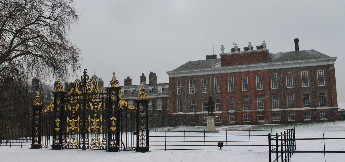 Kensington Palace London in the Snow