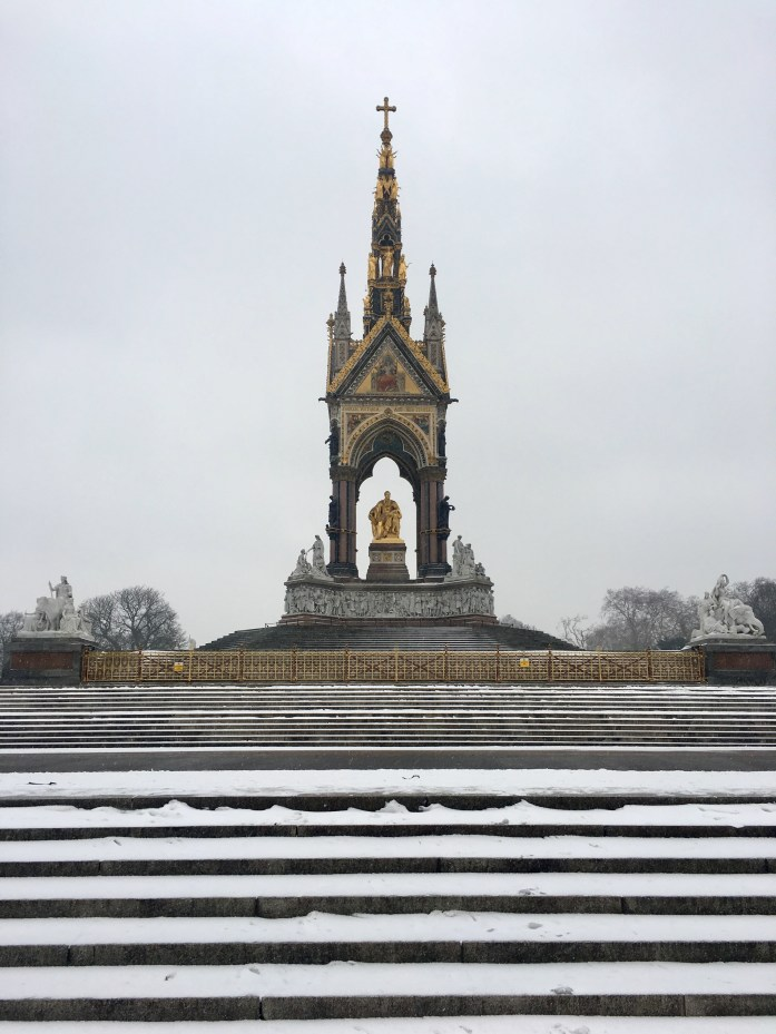Royal Albert Memorial in the Snow