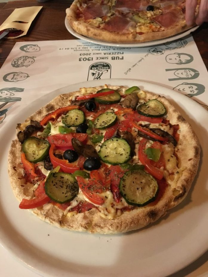Gluten free pizza in Lake Bled
