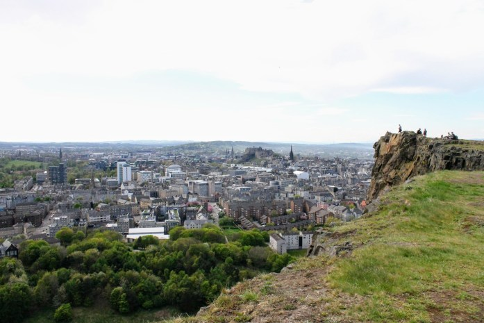 View from Salisbury Crags, Edinburgh, Scotland