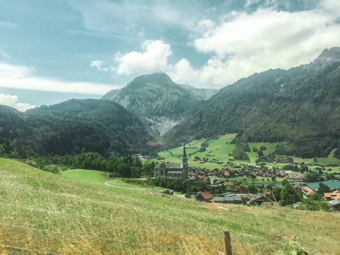 View from train, Switzerland