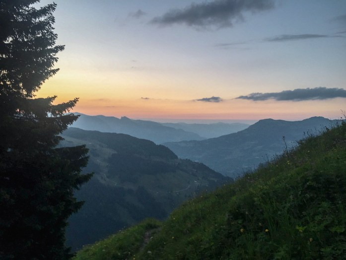 Sunset from Engelhornhütte