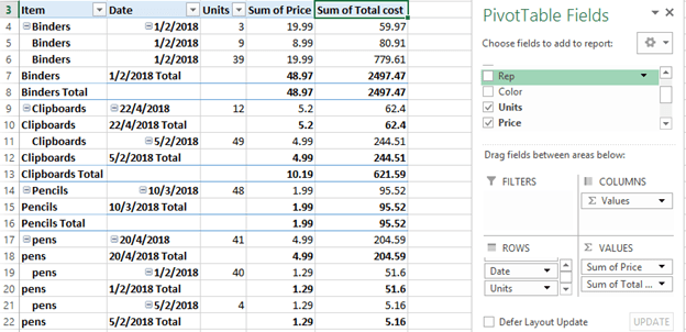How to Concatenate Values of Pivot Table | Basic Excel Tutorial