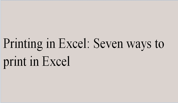 Printing in Excel. How to print in Excel?