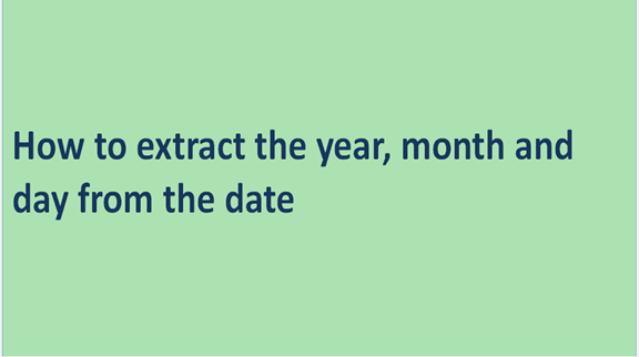 How to extract the year, month and day from the date