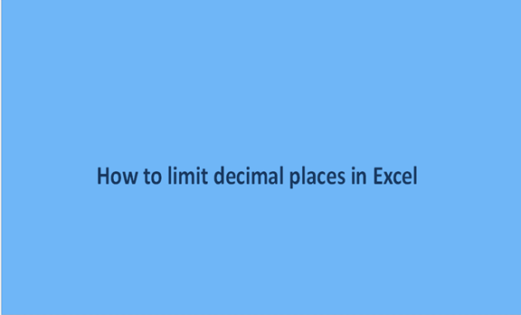 You are currently viewing How to limit decimal places in Excel