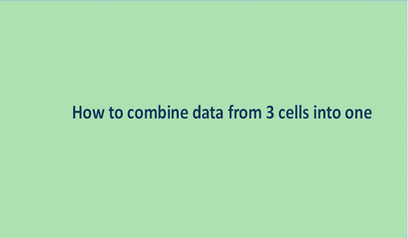Read more about the article How to combine data from 3 cells into one