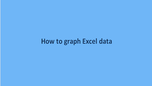 How to graph Excel data