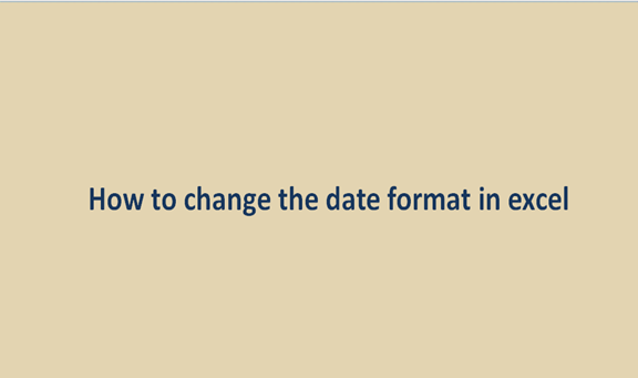 Read more about the article How to change the date format in excel