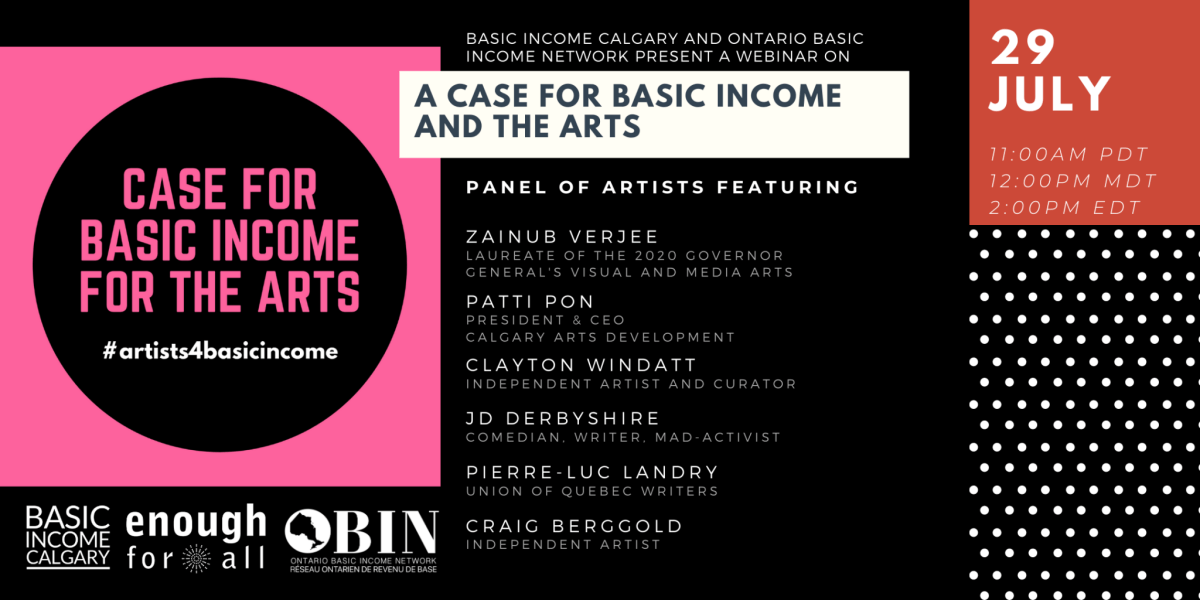 A case for basic income for the arts Webinar