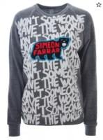 Save The World Grey Sweatshirt By Simeon Farrar