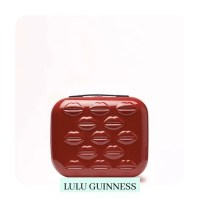 Red Hard Sided Lips Vanity Case
