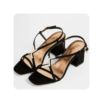 JOLEEAS Suede T Strappy Block Heel Sandal by Ted Baker