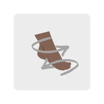 4. Alphabet Feet aka Ankle Rotation Exercise