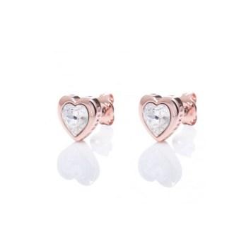 Ted Baker Jewellery Han Heart Earrings in Rose gold