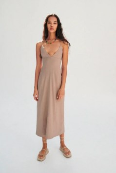 Zara DRESS WITH LINEN