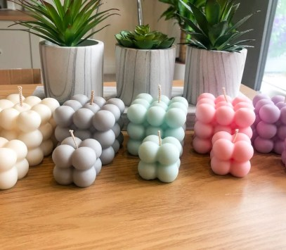 gifts under a £5 Bubble Candles   100% Natural Soy Wax   Vegan