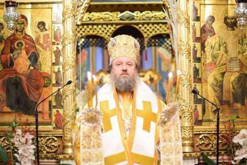 PS Timotei slujind de Crăcin la Mănăstirea Radu Vodă