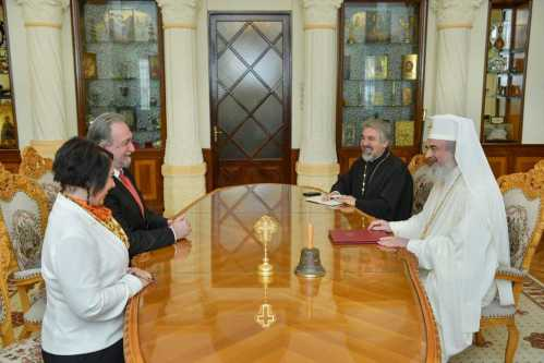 Ambassador of the Republic of Macedonia in Bucharest visits the Romanian Patriarchate at the end of mission