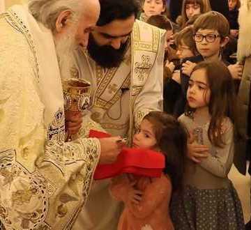 Patriarhul Serbiei slujind la Belgrad