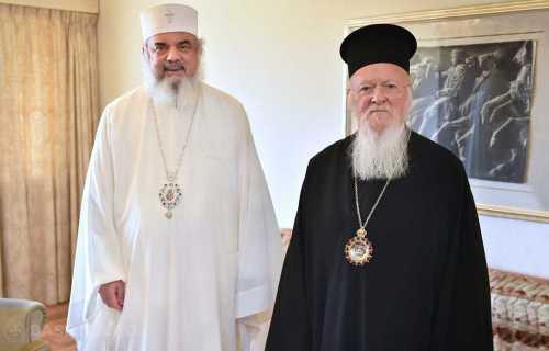 Patriarhul Daniel şi Patriarhul Bartolomeu