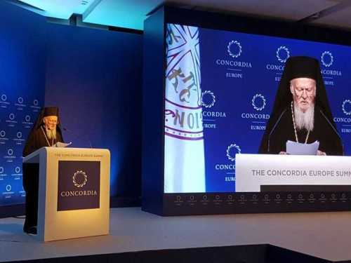 Ecumenical Patriarch Bartholomew Concordia Summit 2017