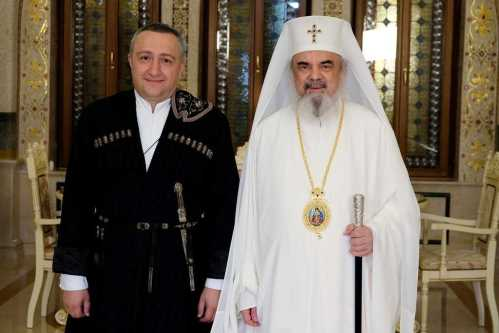 Patriarch Daniel and Georgian Ambassador Ilia Giorgadze