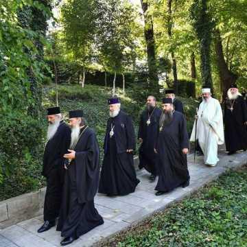 Patriarhul Daniel si membrii Sfantului Sinod al Bisericii Ortodoxe Romane au vizitat Parcul Resedintei Patriarhale (4)