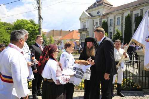 Preşedintele României a vizitat Catedrala din Miercurea Ciuc . a fost întâmpinat de PS Andrei