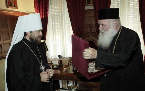 Arhiepiscopul Atenei invitat de Mitropolitul Ilarion Alfeyev in Rusia