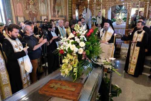 PS Timotei Prahoveanul la înmormântarea Pr. Nicanor Lemne