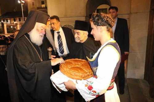 Patriarhul Alexandriei participa la o slujba de Te deum la paraclisul patriarhal din Belgrad