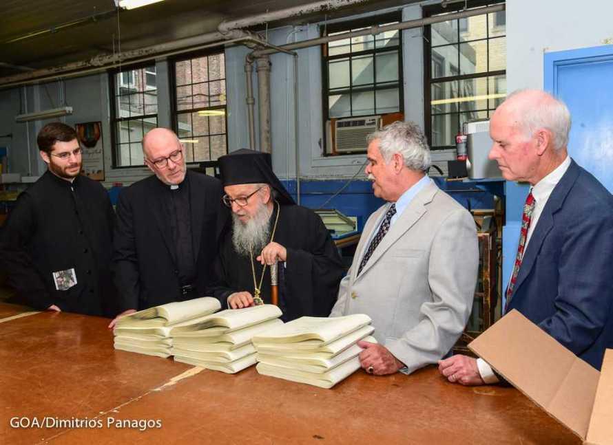 Archbishop Demetrios Visits National Braille Press