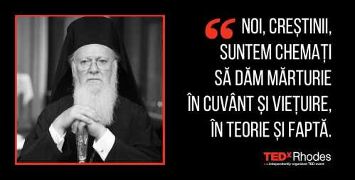 Patriarhul Ecumenic TEDxRhodes