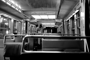 Mickey rides the RER B