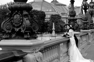Paris bride & groom, Grand Palais