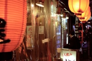 """I inhaled a bowl of tachigui ramen and a beer near the station, plus about a liter of water to replace what I'd lost in the sentō."""