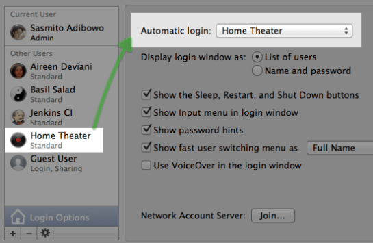 Auto Login Settings
