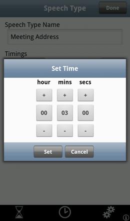 Speech Timing Setup
