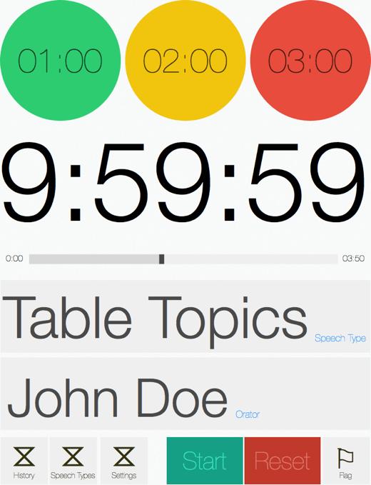 Speech Timer Redesign iPad portrait