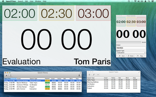 Speech Timer Mac OS X All Windows