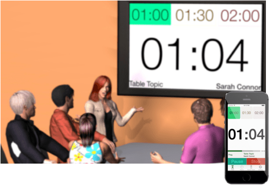 Speech Timer Projection iPhone