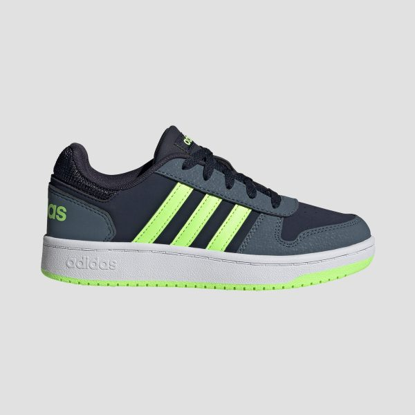 adidas Hoops 2.0 sneakers blauw/groen kinderen Kinderen