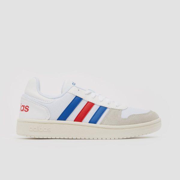adidas Hoops 2.0 sneakers wit/blauw kinderen Kinderen